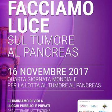 FACCIAMO LUCE SUL TUMORE AL PANCREAS 2017